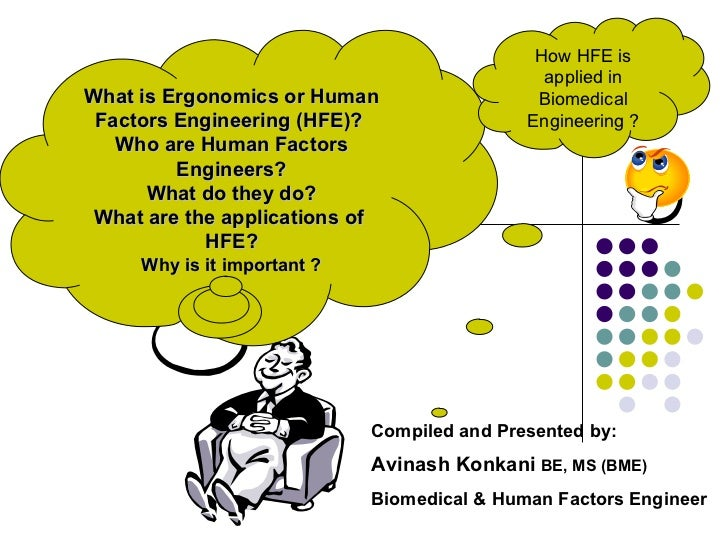 What is Ergonomics or Human Factors Engineering (HFE)?  Who are Human Factors Engineers? What do they do? What are the app...