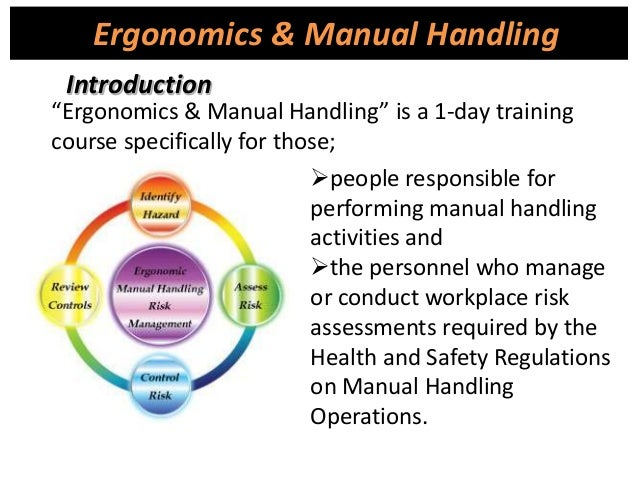 identify the regulations covering manual handling