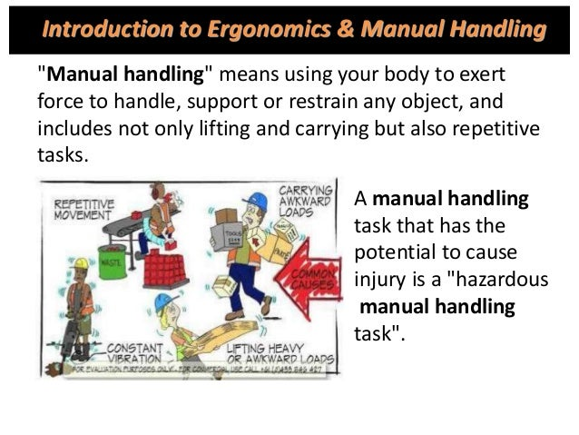 manual material handling and back injuries quiz