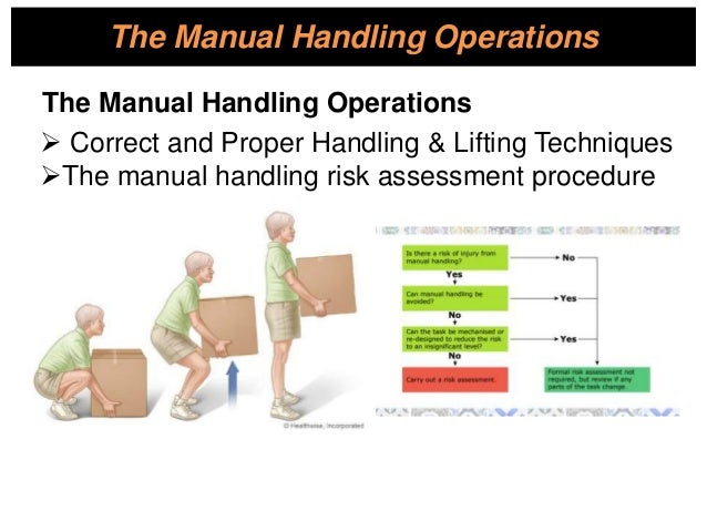 hlthse204d follow safe manual handling practices