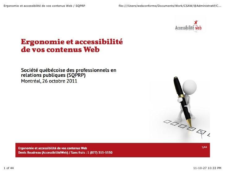 Ergonomie et accessibilité de vos contenus Web / SQPRP   file:///Users/webconforme/Documents/Work/CSAW/@Administratif/C......