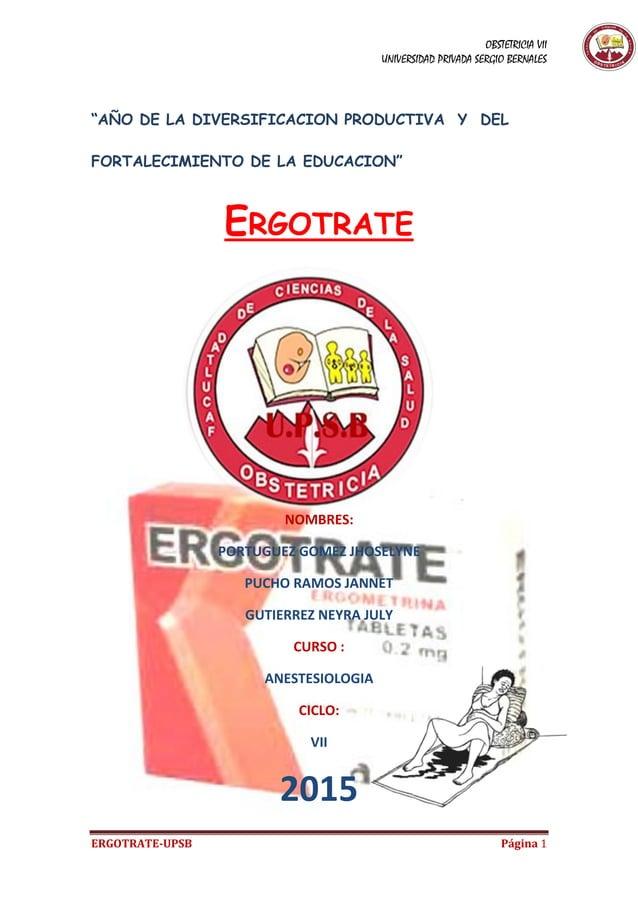 """OBSTETRICIA VII UNIVERSIDAD PRIVADA SERGIO BERNALES ERGOTRATE-UPSB Página 1 """"AÑO DE LA DIVERSIFICACION PRODUCTIVA Y DEL FO..."""