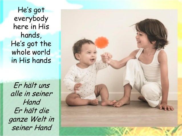 Er Hält Die Welt In Seiner Hand