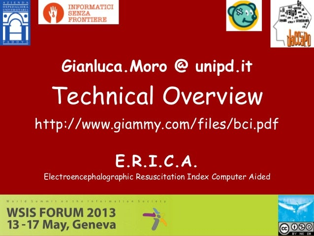 E.R.I.C.A.Electroencephalographic Resuscitation Index Computer AidedGianluca.Moro @ unipd.itTechnical Overviewhttp://www.g...