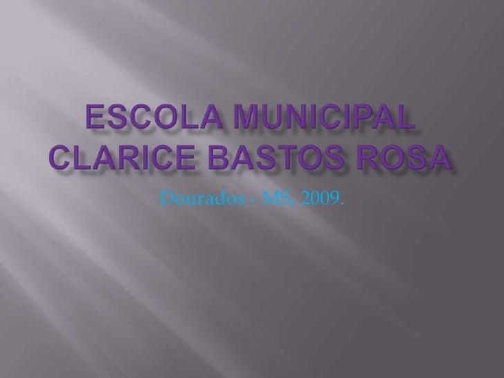 Escola Municipal Clarice Bastos Rosa<br />Dourados - MS, 2009.<br />