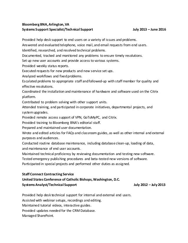 help desk jr network resume - Help Desk Resume