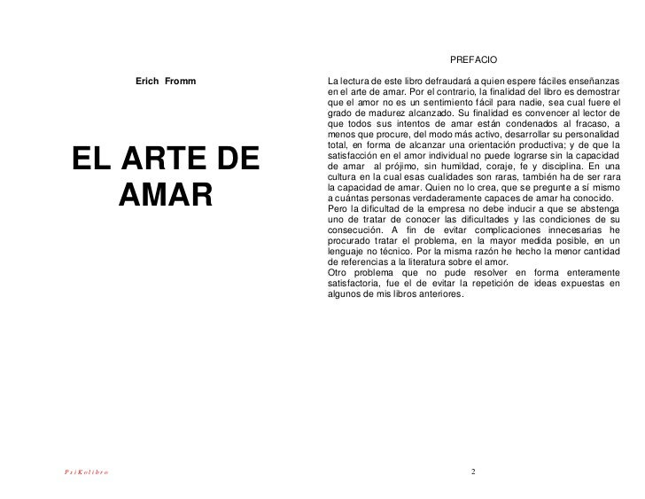 Erich Fromm El Arte De Amar