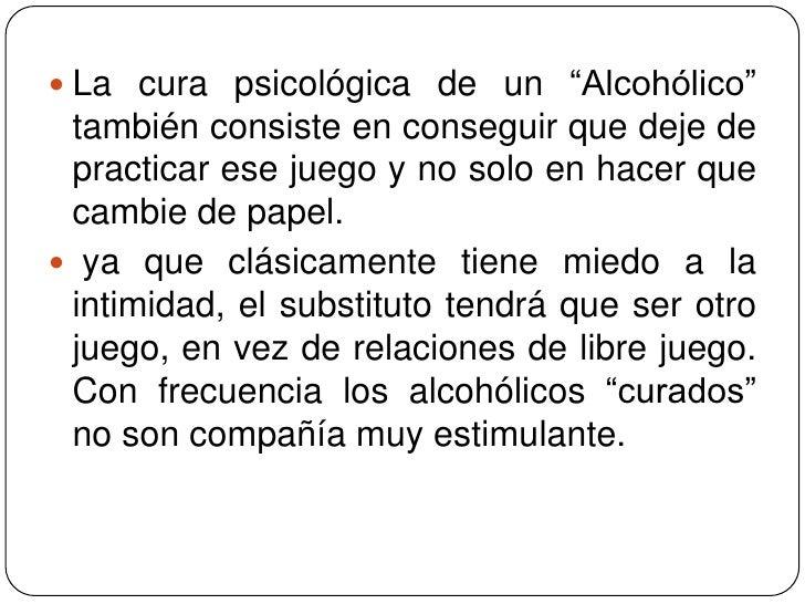 Que medicinal del alcoholismo