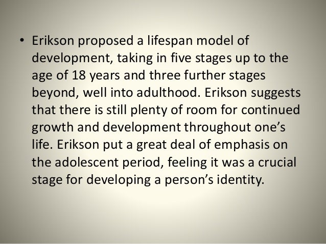 erick erickson a psychoanalytical perspective on Erik erikson was a descendant of freud's theories, suggested new views, and was one of the most influential psychoanalytical theorists of his time, and arguably, today.