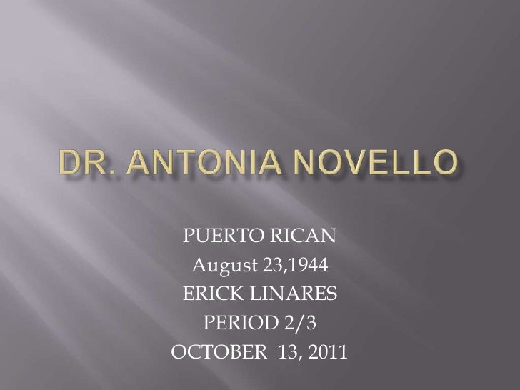 PUERTO RICAN  August 23,1944 ERICK LINARES   PERIOD 2/3OCTOBER 13, 2011