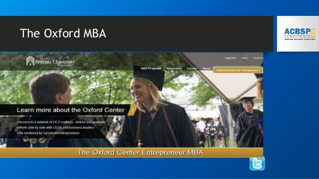 The Oxford MBA