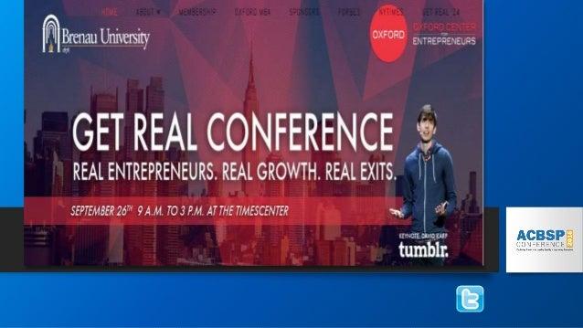 Original Target Market • Entrepreneurs globally • Full time students who move to Atlanta for the program • At a minimum ha...