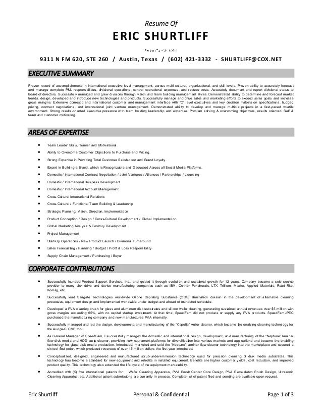 eric shurtliff resume revision date april 2016