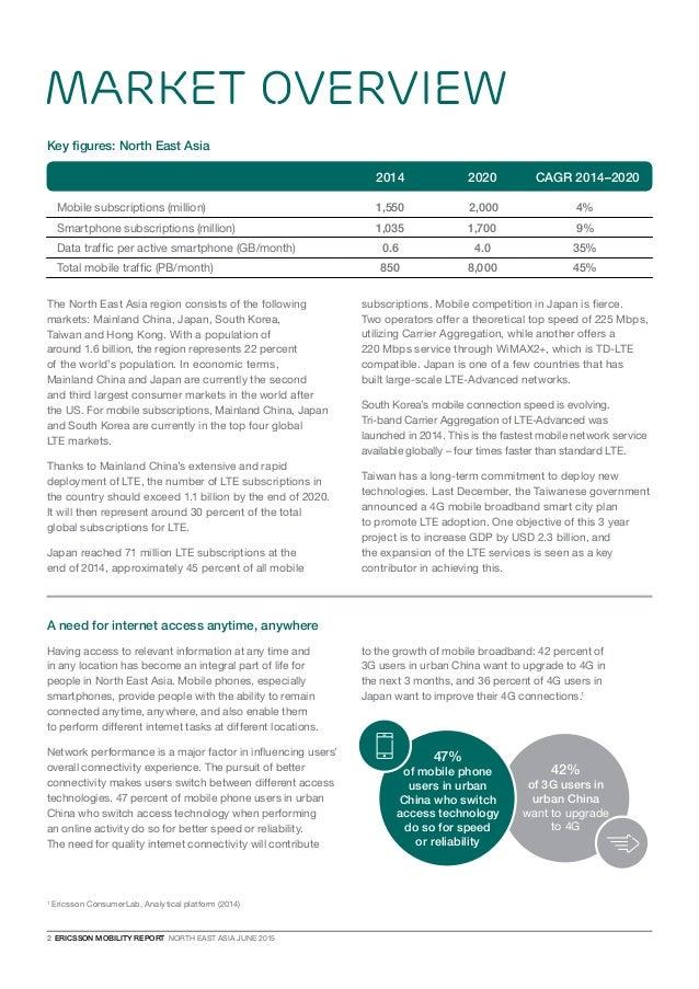 Ericsson Mobility Report - June 2015 - North East Asia appendix Slide 2