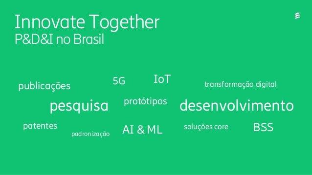 Innovate Together P&D&I noBrasil padronização protótipos transformação digital patentes publicações pesquisa BSS desenvolv...