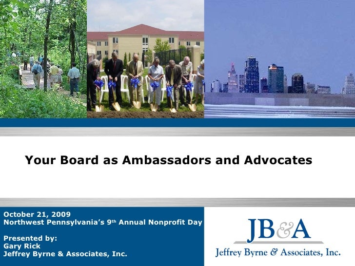 Your Board as Ambassadors and Advocates