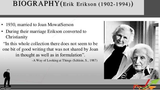 Erik Erikson Traveled Europe