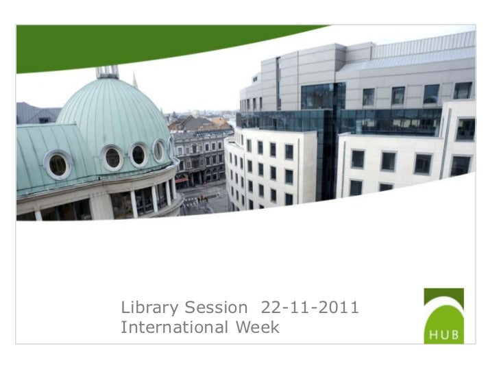Library Session 22-11-2011International Week