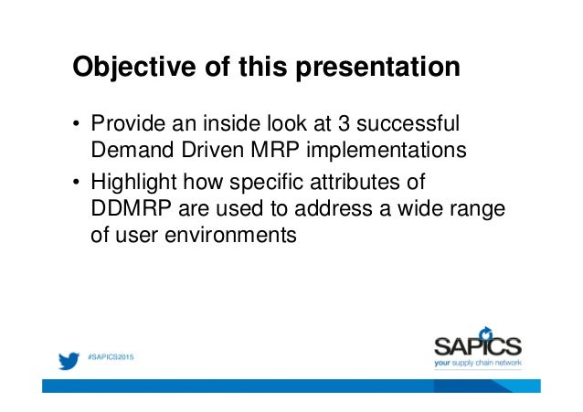 What are the objectives of mrp