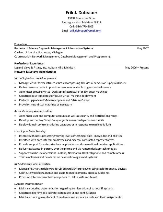 erik dobrauer - resume