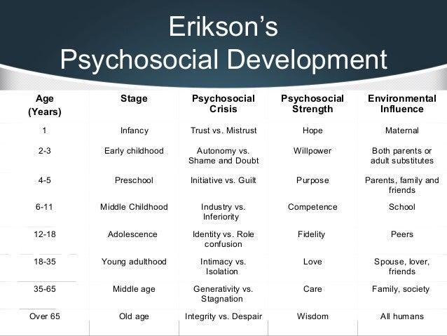What is psychosocial development essay