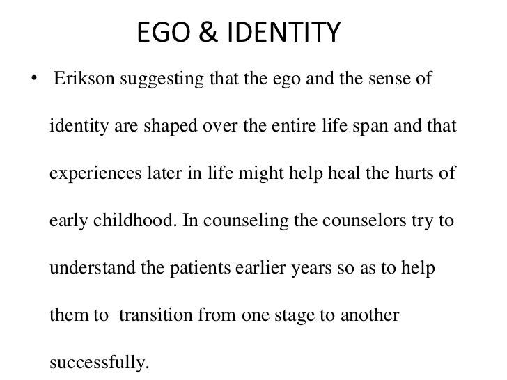 understanding erik eriksons theory about human development Erik h erikson published his groundbreaking theory of 8 stages of lifelong psychosocial development in 1950 his theory  understanding of human development.