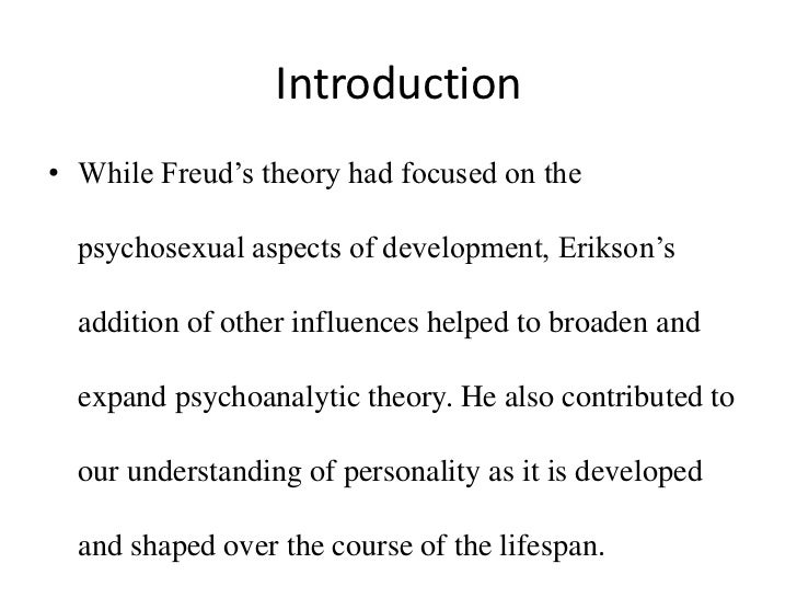 psychoanalytic and psychosocial theory