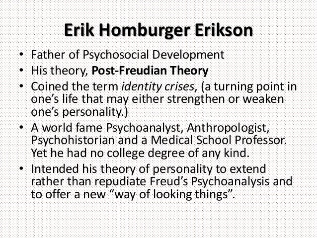 eriksons psychosocial development broch Generativity versus stagnation is the seventh stage of erikson's psychosocial theory discover the important events at this stage of development.