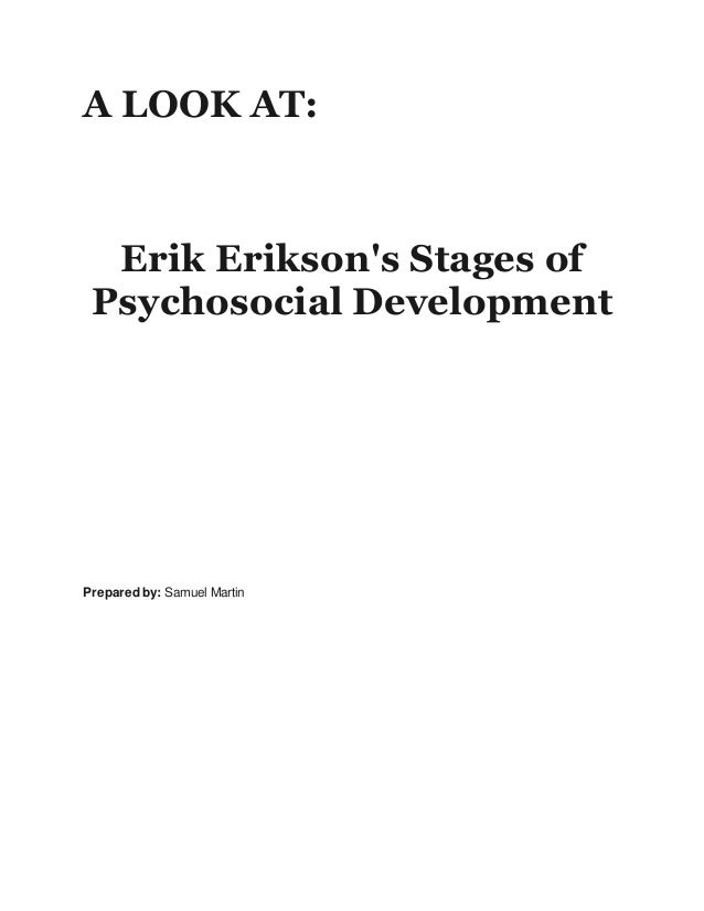 The Stages of Life According to Erik Erikson