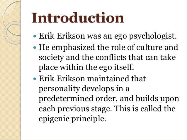 Erik Erikson's theory of personality