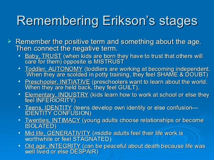 eriksons psychoanalytic stages Erik erikson born: anna noticed erikson's sensitivity to children at the school and encouraged him to study psychoanalysis at the the erikson life-stage.