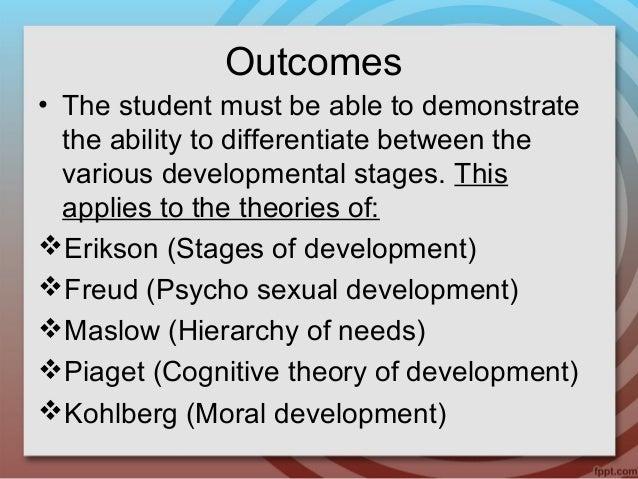 Whereas freud described psychosexual stages of development erikson described