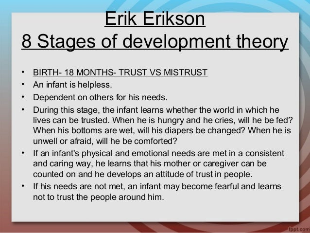 understanding erik eriksons theory about human development Learn about identity versus role confusion, the fifth stage of erik erikson's theory of psychosocial development.