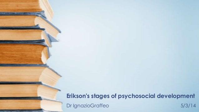 Erikson's stages of psychosocial development Dr IgnazioGraffeo  5/3/14