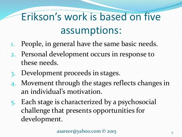 Erikson's stage theory