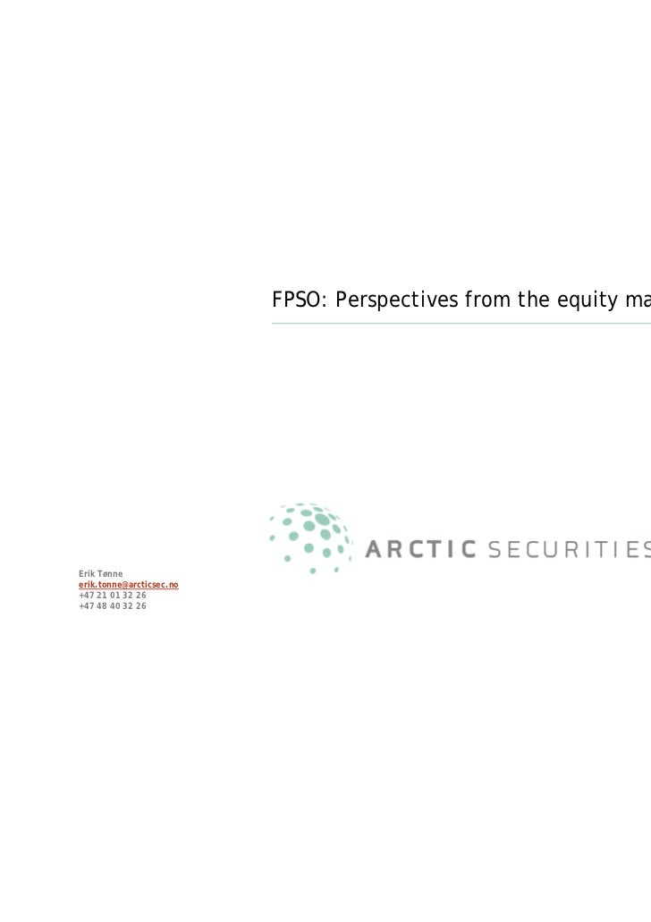FPSO: Perspectives from the equity market                                                                      September 2...
