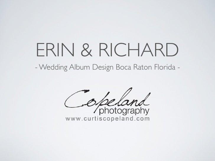 ERIN & RICHARD - Wedding Album Design Boca Raton Florida -