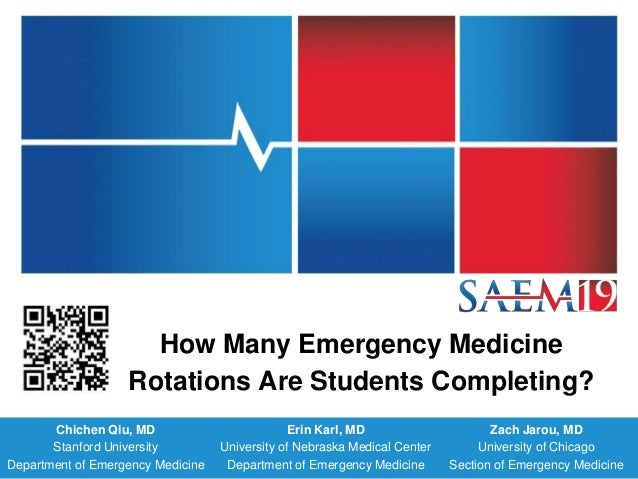 How Many Emergency Medicine Rotations Are Students Completing?