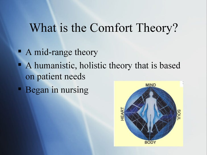 The theory of comfort Essay