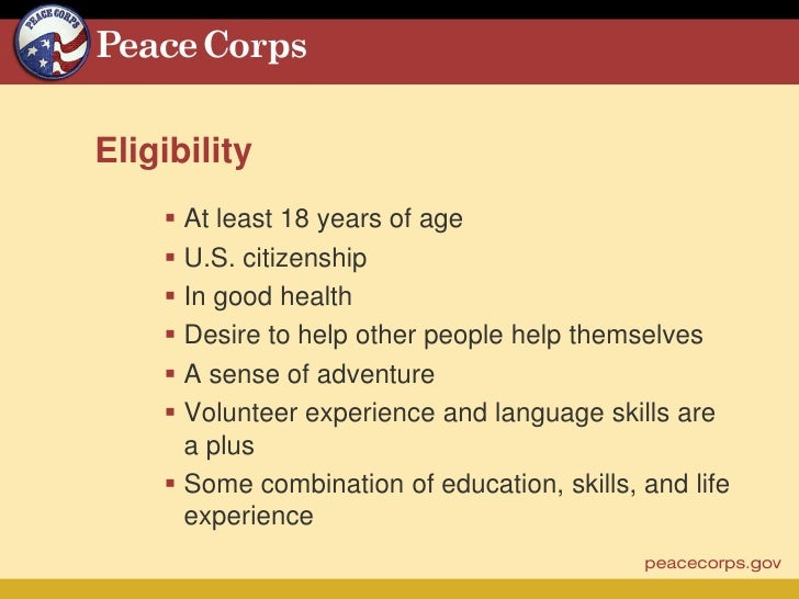 peace corps essay questions Learn why the peace corps may be the should i join the peace corps strangers may not respect your personal space or may ask you personal questions about.