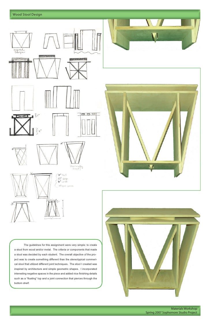 Sophomore Project 12 Wood Stool Design The Guidelines