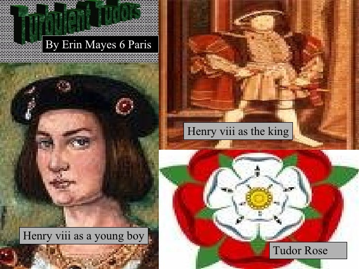 Turbulent Tudors Henry viii as a young boy Tudor Rose  Henry viii as the king By   Erin   Mayes 6 Paris