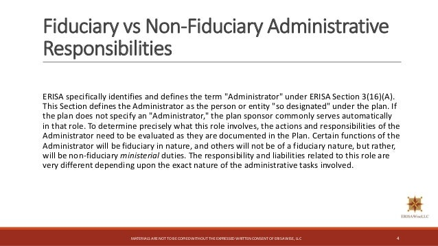 ERISA 3(16) Fiduciary Considerations for the TPA
