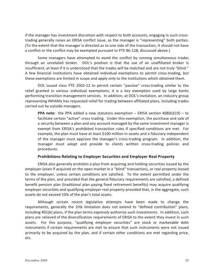 Electronic trading platform erisa exemption fixed income liquidnet