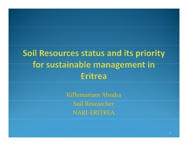 Soil resources status and its priority for sustainable for About soil resources