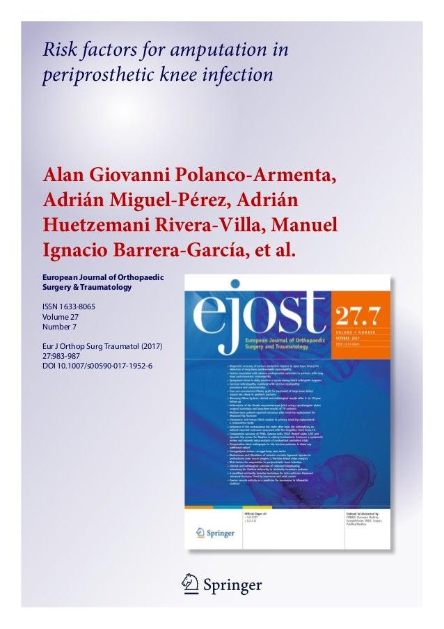 1 23 European Journal of Orthopaedic Surgery & Traumatology ISSN 1633-8065 Volume 27 Number 7 Eur J Orthop Surg Traumatol ...