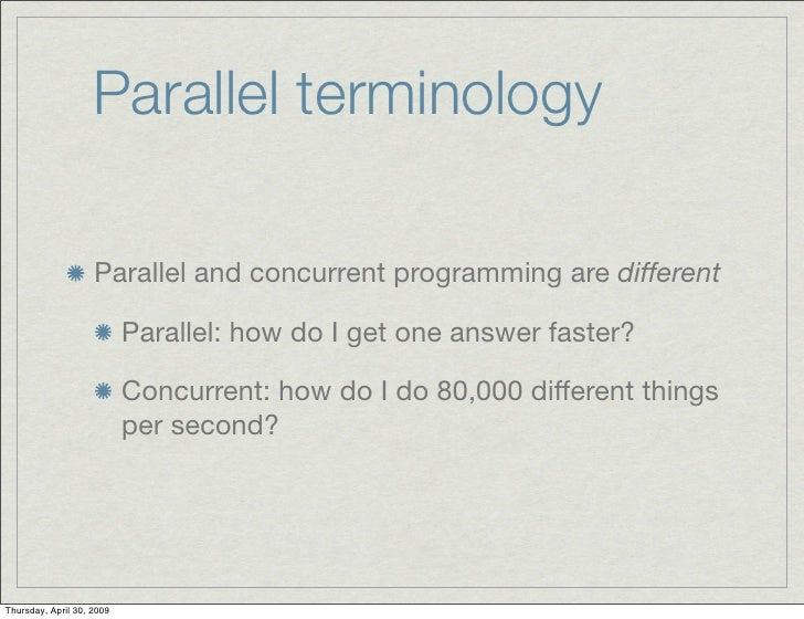 Parallel vectors haskell