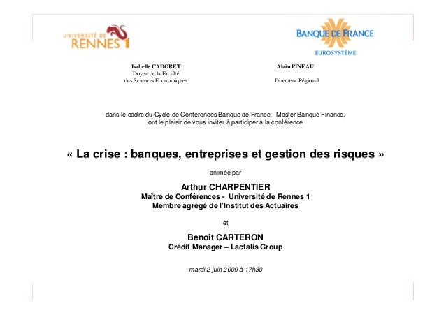 Isabelle CADORET Alain PINEAU Doyen de la Faculté des Sciences Economiques Directeur Régional dans le cadre du Cycle de Co...