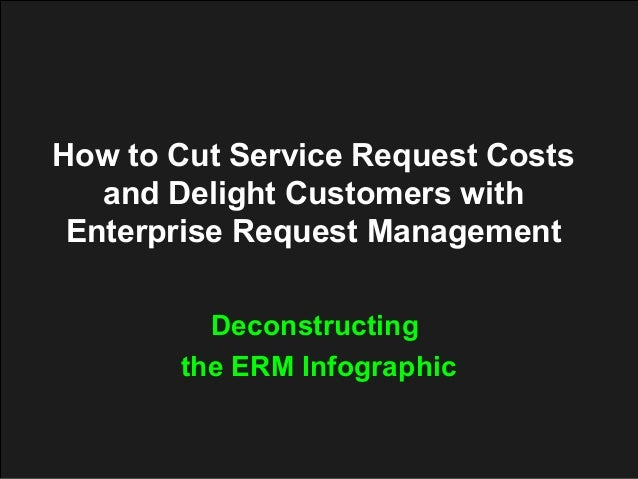 How to Cut Service Request Costs and Delight Customers with Enterprise Request Management Deconstructing the ERM Infograph...