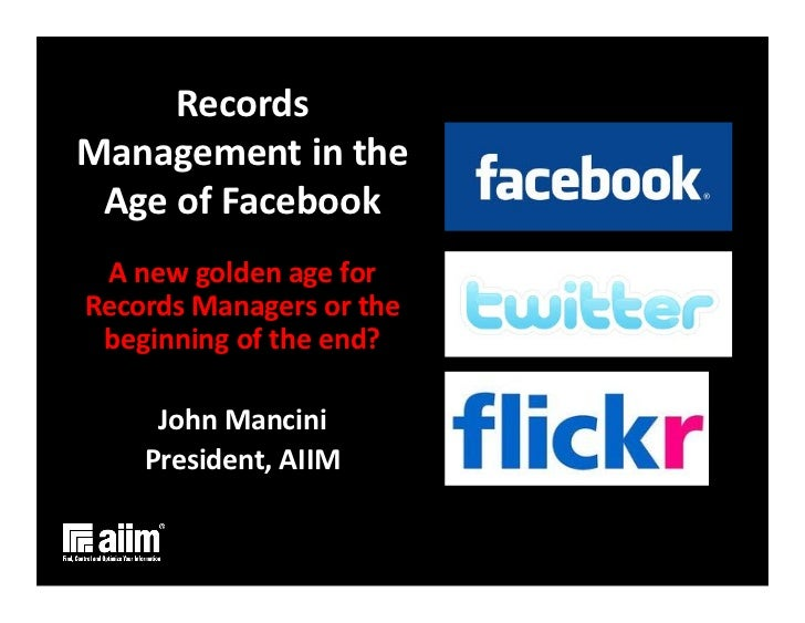 Information governance in the Facebook Era